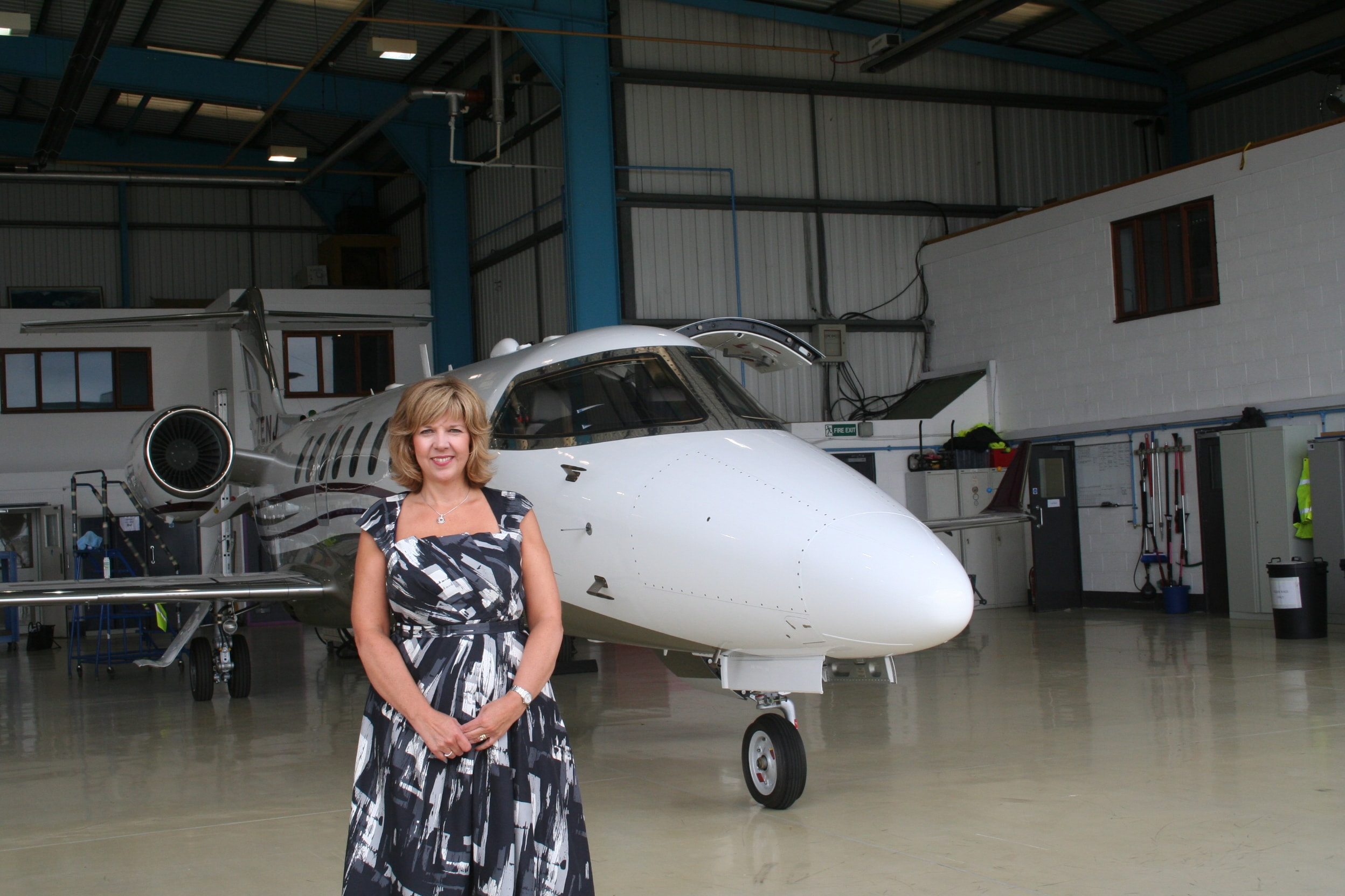 Alison with aircraft